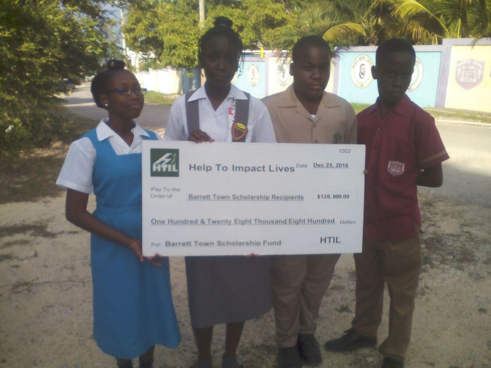 Barrett Town Scholarship Fund Recepients
